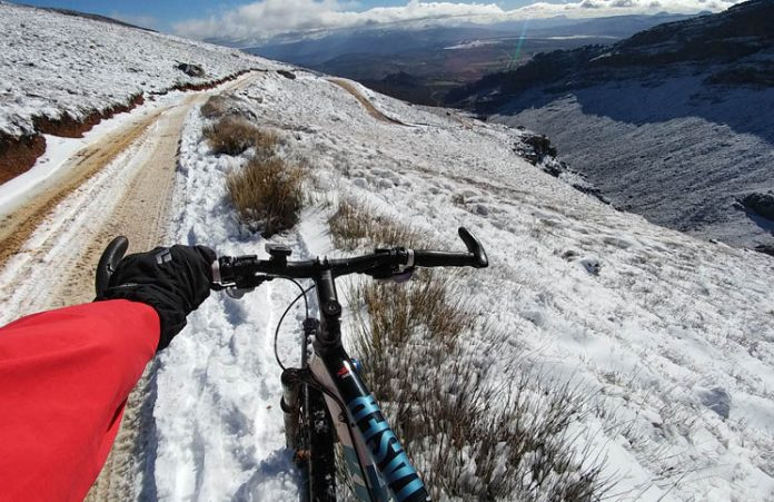Winter cycling adventure