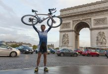 Scottish cyclist and circumnavigation by bicycle